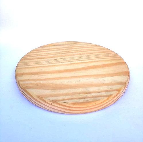 Bandeja redonda madeira pinus