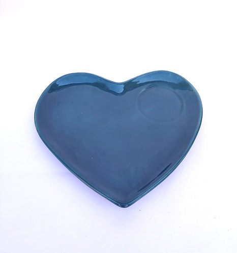 Prato coração azul
