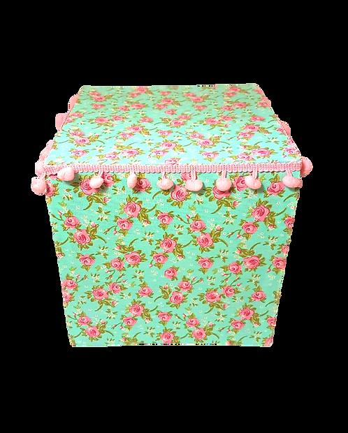 Caixa forrada floral G