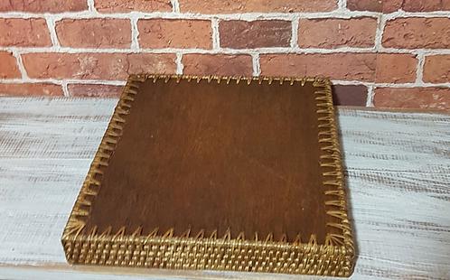 Bandeja madeira com treliça