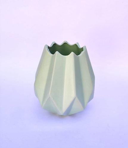 Vaso verde geométrico P