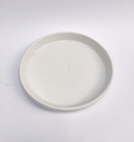 Prato redondo branco - P