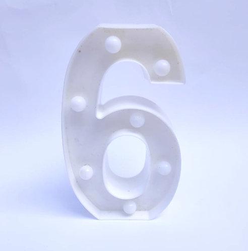 Luminoso número 6 ou 9