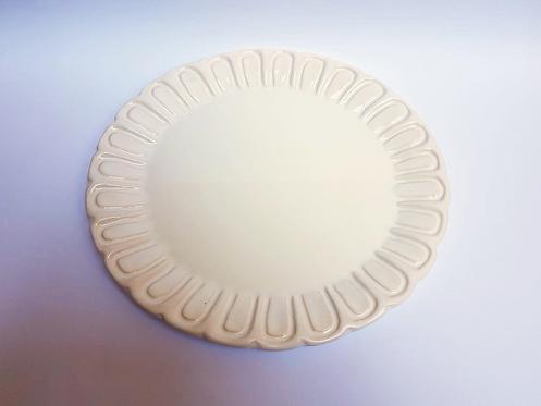 Prato redondo branco - M