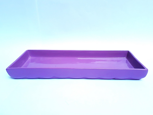 Bandeja retangular lilás