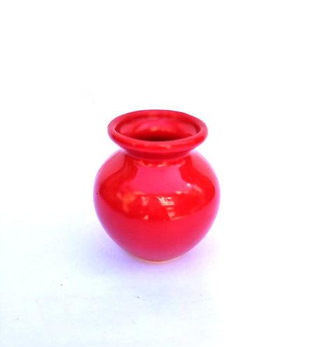 Vaso bolinha vermelho - PP