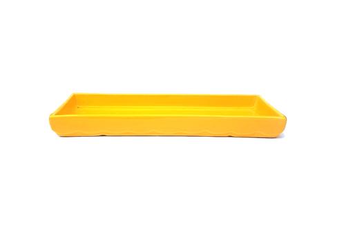 Bandeja retangular amarela