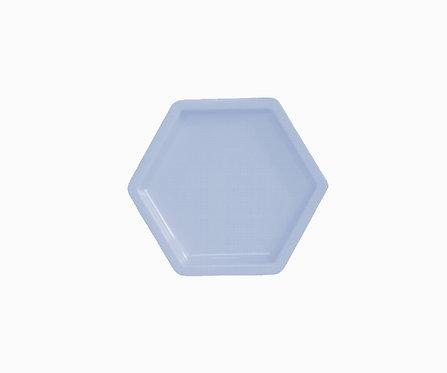 Bandeja hexagonal azul bebê
