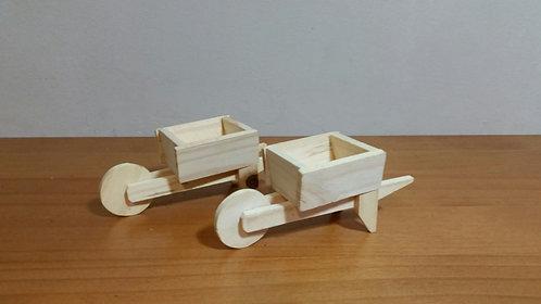 Duo de mini carroças