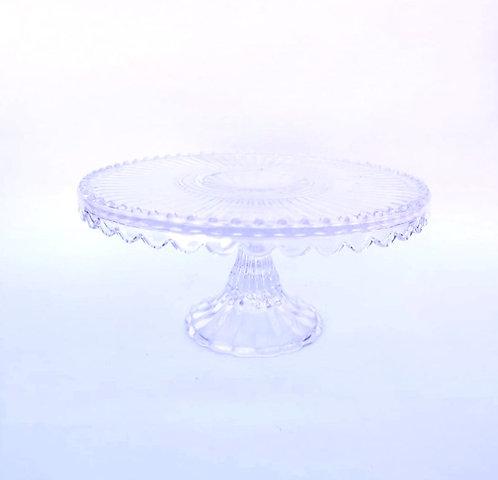 Prato suspenso vidro M (babados)