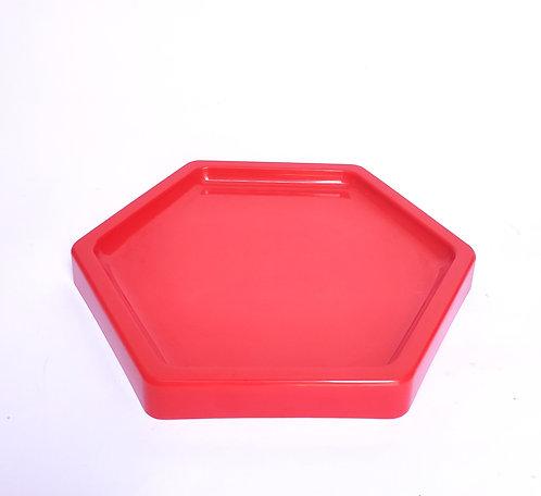 Bandeja hexagonal vermelha