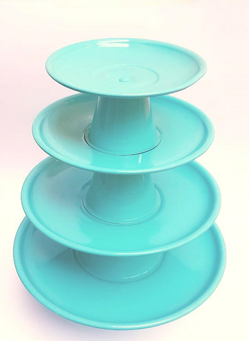 Kit pratos suspensos azuis