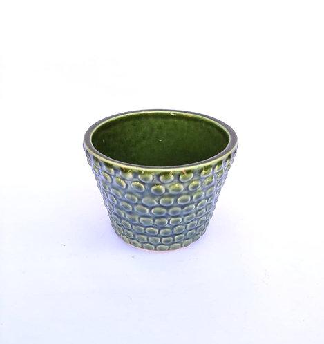 Vaso verde bolinhas