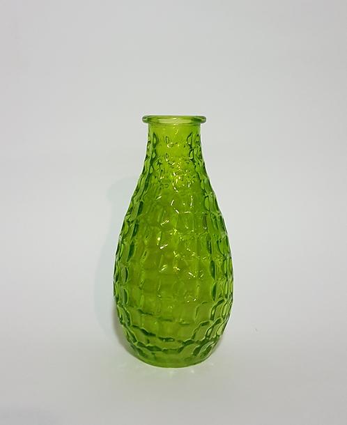 Garrafinha de vidro verde