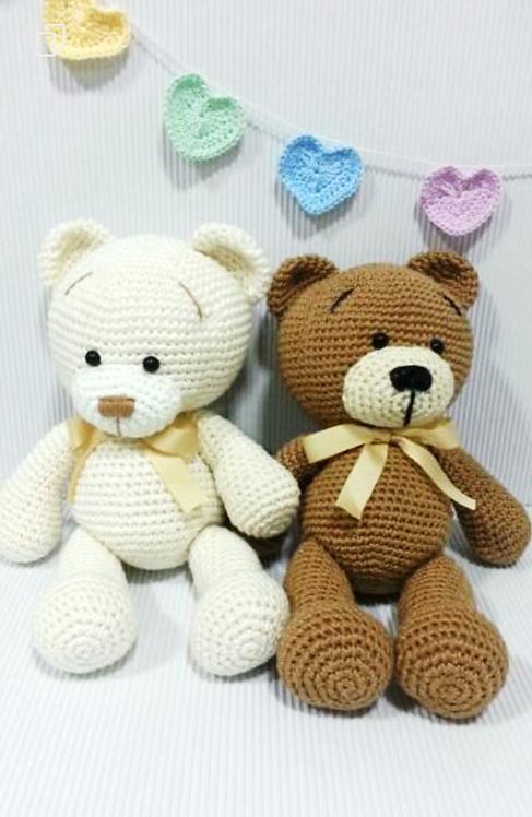 Kit de ursos amigurumis