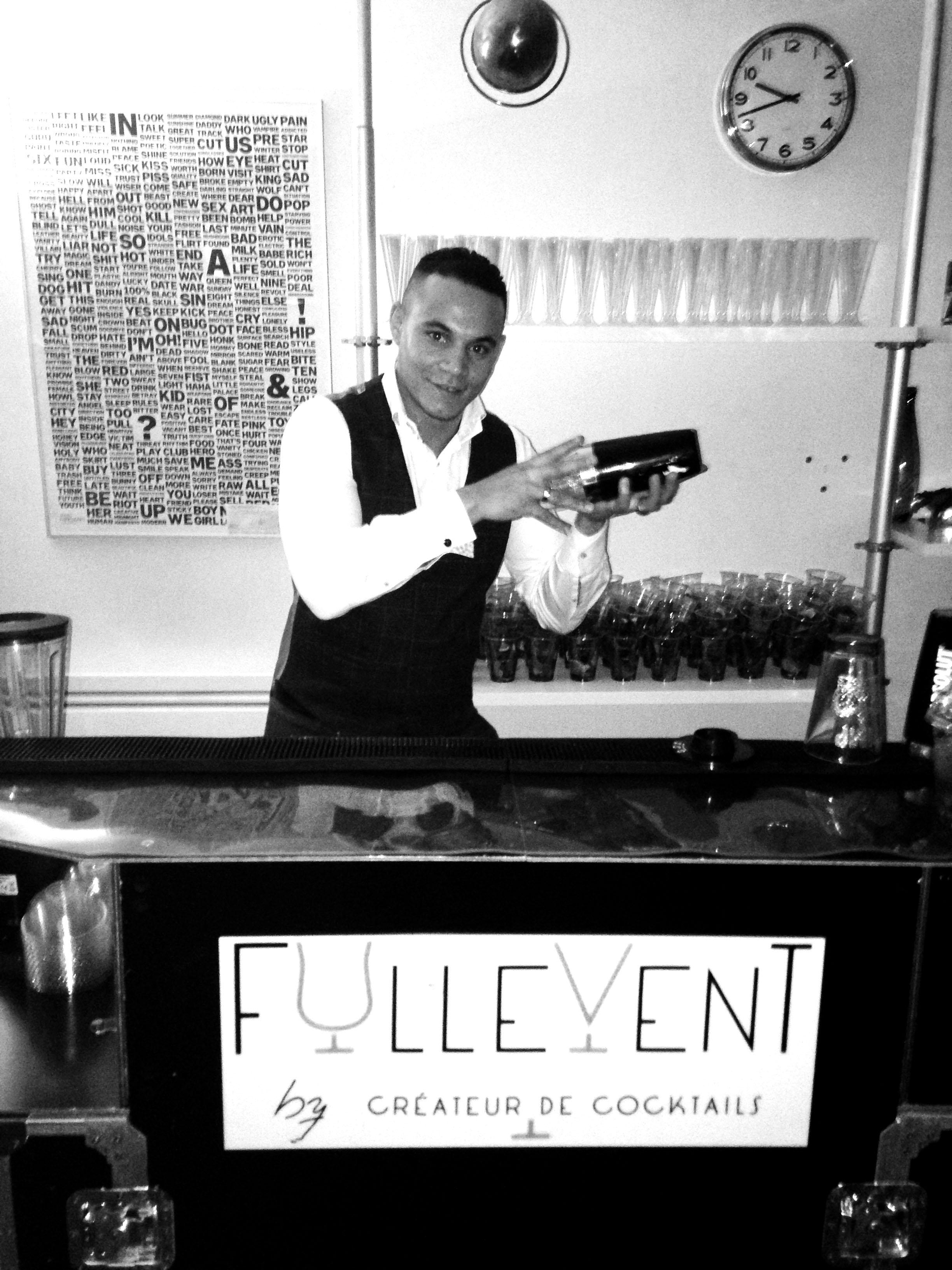 soirée, cocktails, barman