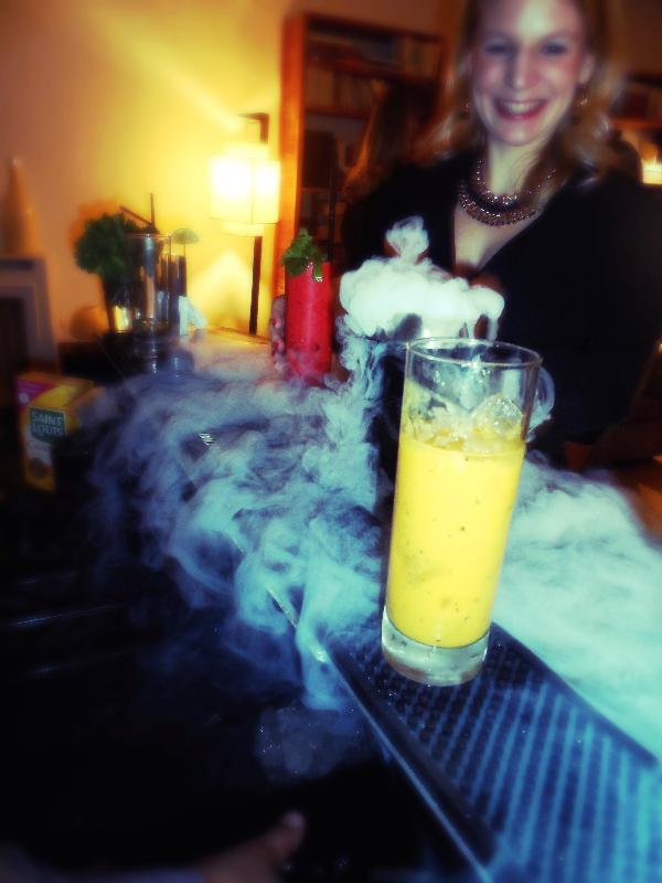anniversaire, cocktails, barman