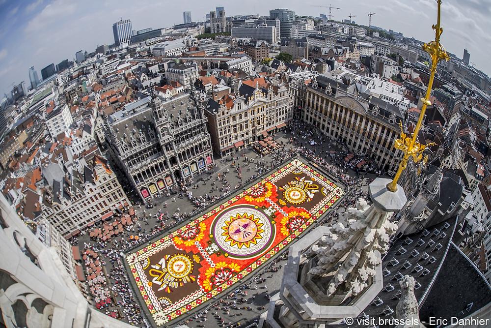 Blumenteppich Brüssel 2018 Thema Mexiko