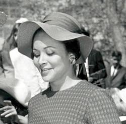 Edie Huggins (right), c 1960s_photo by J