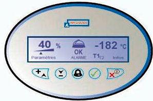 クライオメモコントローラー.AIR LIQUIDE社,液体窒素凍結容器