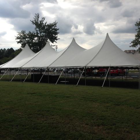 4 pole pole tent on grass