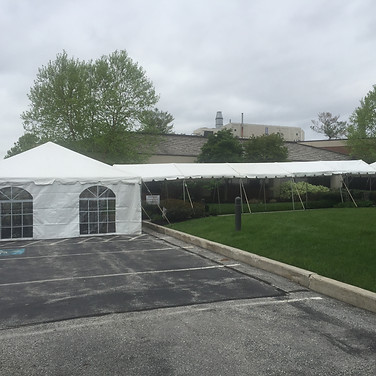 Tent with walkway coverage
