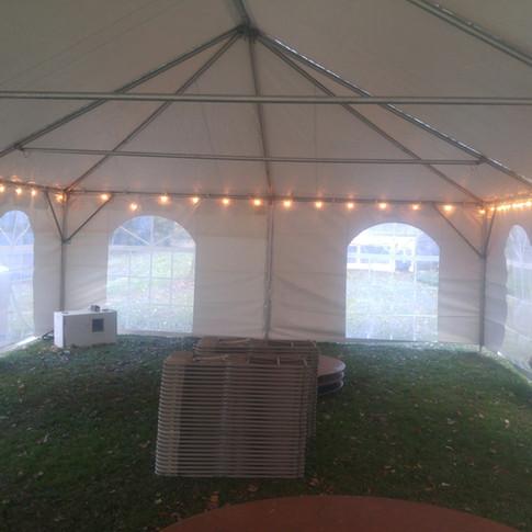 Tent lights inside 20x30