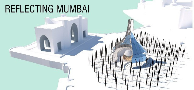 Description - Mumbai, the city which never sleeps, has many ups and downs yet, but two things which keep this city on upfront is the strength and solidarity. Which we designed to keep the strength and solidarity at upfront.  The iconic structure consists of translucent glass and steel mullions consist of a ramp with maintaining the good will and prosperity of the soldiers that we loss in attack.  The free standing vertical columns having the names of the victims are connected with metal rope, which creates the zigzag way for visitors, which makes journey joyful and suspenseful.  The structure has a Unique identity as it has mirrors placed along all the façade, placed at an angle so that the visitors can only see the sky and not the surrounding structures. This implies that we as a population feel one and see the same positivity from all across.  The pillars each represent the martyrs of the terrorist attack, and are made of the material 'vanta black' which is the darkest material which does not show any edge making the whole assembly look monolithic and united. The pillars also beam laser lights in the sky making it a unique sight to view in the night.  Locatin - Mumbai  Status - Proposal