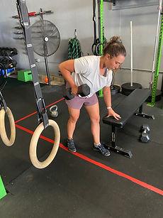 Kettlebells, dumbbells, dumbbell rows, group fitness, group fitness class, community fitness, crossfit