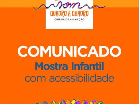 COMUNICADO - Mostra Infantil com acessibilidade