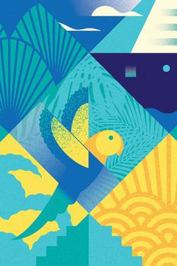 Parrot | postcard