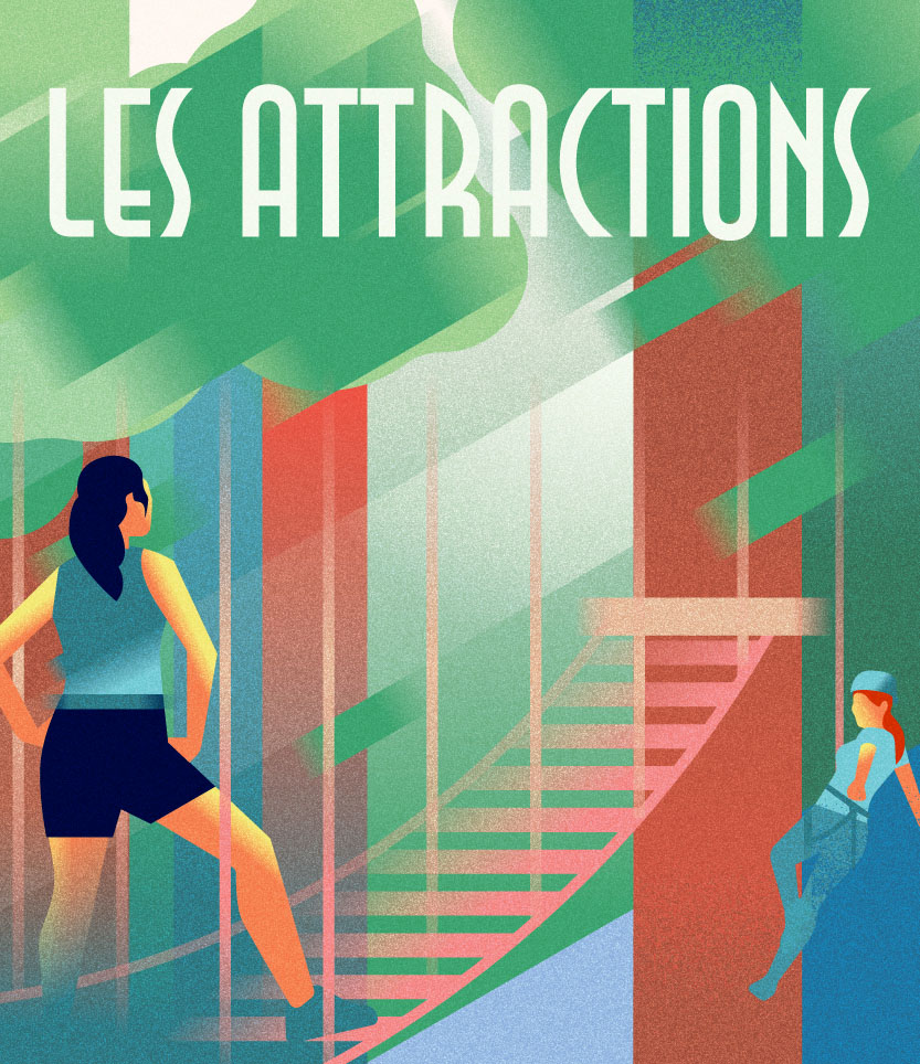 Poster LES-ATTRACTIONS