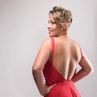 back of red dress