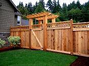 Cape Fear wooden japanese garden fence