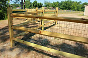 Wilmington North Carolina-Wooden fence and metal enclosure
