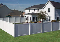 Single Family Vinyl Fence Wilmington, NC