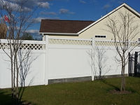 vinyl fence with cross hatch Wilmington, NC