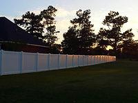 vinyl residential stock fence hoa condo Wilmington, NC