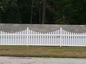 Cape Fear custom vinyl picket fence