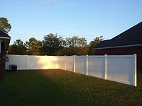 Fence vinyl gate Wilmington, NC