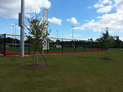 Baseball outfield chain link fence-Cape Fear, NC