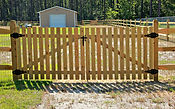 Wooden gate installation Wilmington North Carolina