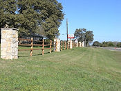 Entrance to ranch-fence contractor-Wilmington North Carolina