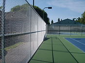 Tennis court HOA chain link fence-Cape Fear, NC