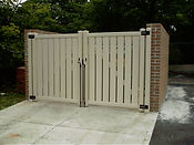 brick wall vinyl gate wilmington nc