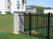 Corner End Brick with aluminum fence Wilmington NC