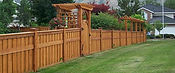 Cape Fear custom wooden arch gate