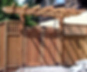 Wooden Gate Fence with Japanese Hanging Wilmington NC