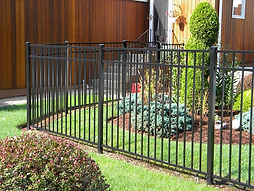 Residential aluminum picket fence
