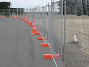 Temporary Aluminum Construction Fence Orange Safety Cones Wilmington-North Carolina